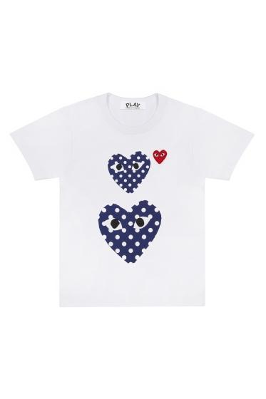 Wms Tee - 3 Polka Dot Hearts