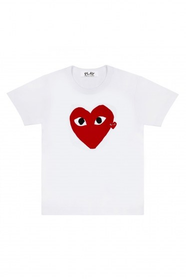 Wms Tee - Double Red Heart