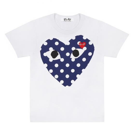 Wms Tee - Polka Dot Heart