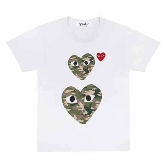 Mens Tee - 3 Camouflage Hearts