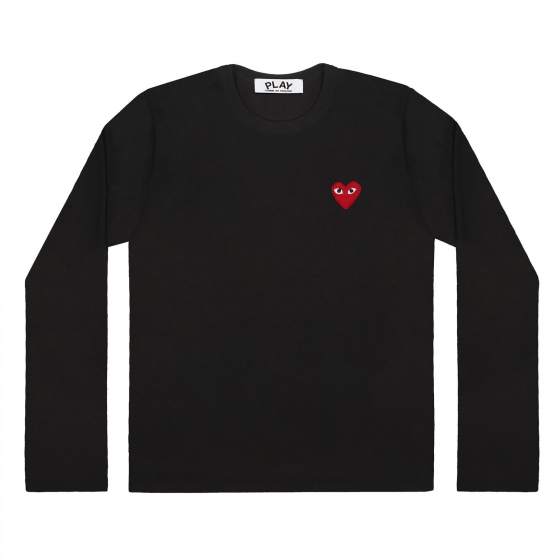 Mens L/S Tee - Embr Red Heart