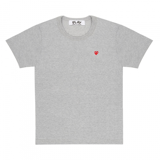Mens Tee - Small Embr Red Heart