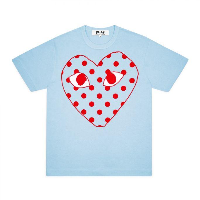 Mens Tee - Large Spotty Heart