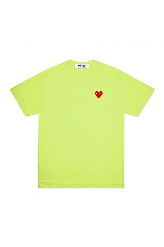 Mens Tee - Embr Red Heart