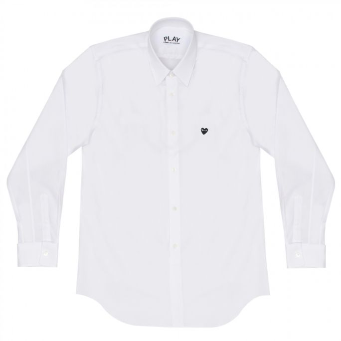 Mens Shirt - Mini Embr Black Heart