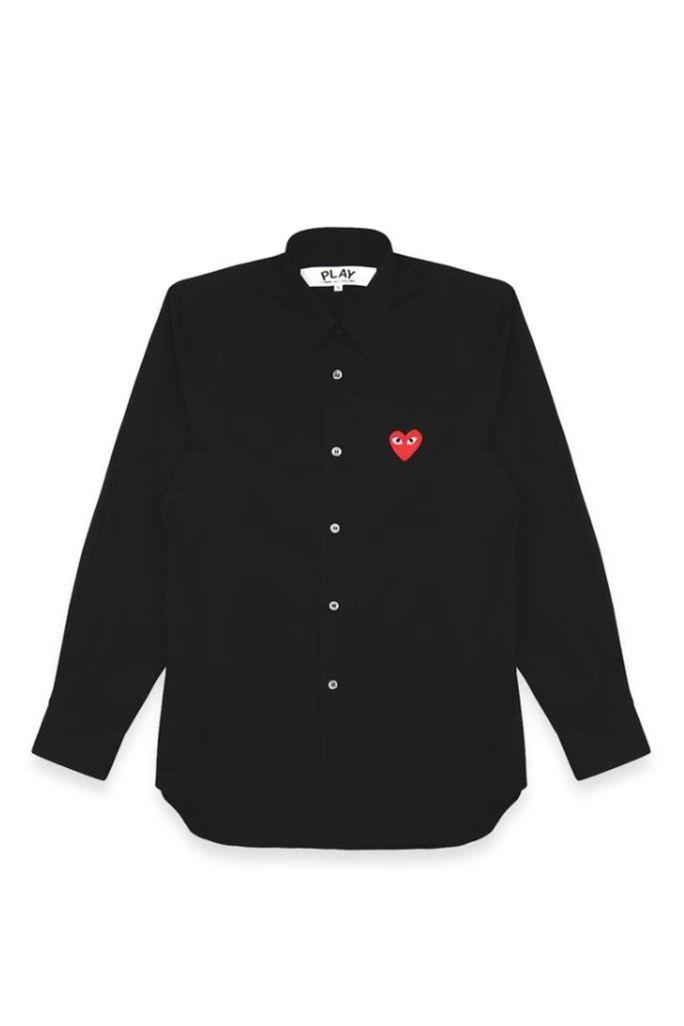 Mens Shirt - Embr Red Heart