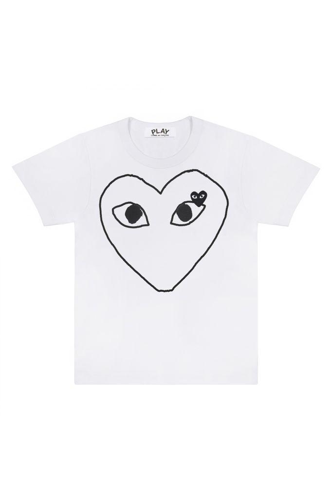 Mens Tee-Outline Black Heart
