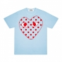 Wms Tee - Large Spotty Heart