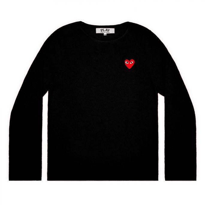 Womens Wool Jumper - Embr Red Heart