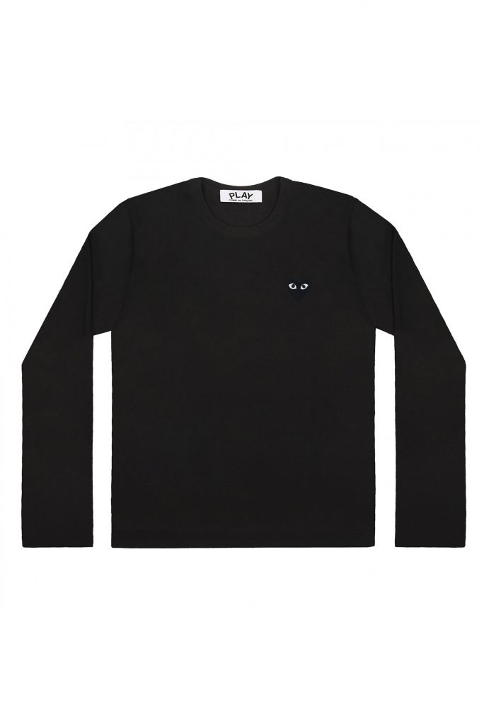 Womens L/S Tee - Embr Black Heart