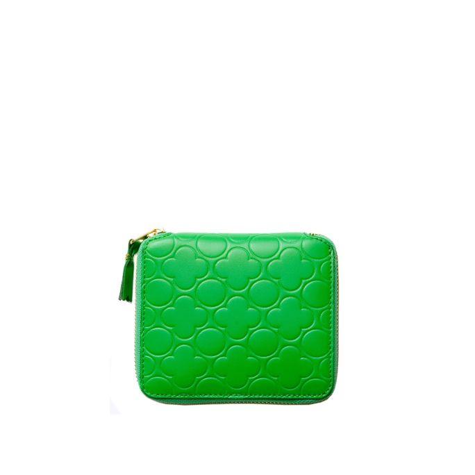 Small Embossed Zip Wallet